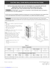 Electrolux E30EW85EPS1 Installation Instructions Manual