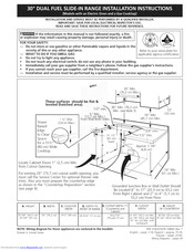 Electrolux EW30DS6CGS5 Installation Instructions Manual