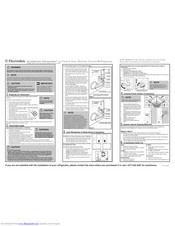 Electrolux EI27BS26JW9 Installation Instructions