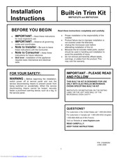 Frigidaire FGM0205KW Installation Instructions Manual