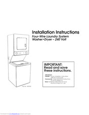 Whirlpool THIN TWIN YLTE5243DQ3 Installation Instructions Manual