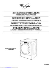 Whirlpool 3LCHW9100WQ0 Installation Instructions Manual