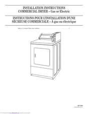 Whirlpool CGM2751TQ0 Installation Instructions Manual