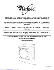 Whirlpool 3LCED9100WQ0 Installation Instructions Manual