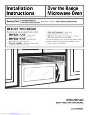 Frigidaire MMV150KWA Installation Instructions Manual