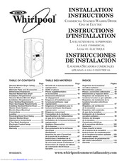 Whirlpool CET8000AQ1 Installation Instructions Manual