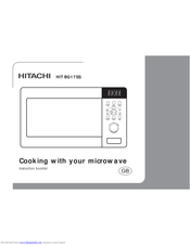 HITACHI HIT BG17SS Instruction Booklet