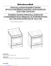 Kitchenaid KERS807SSS01 Installation Instructions Manual