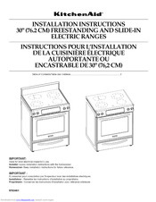 Kitchenaid YKESS908SS00 Installation Instructions Manual