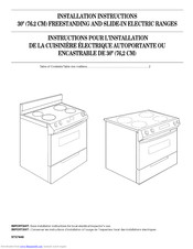 Kitchenaid YKESA907PP00 Installation Instructions Manual