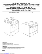 Kitchenaid YKESA907PB02 Installation Instructions Manual