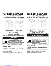 Kitchenaid YKESC307HB8 Installation Instructions Manual