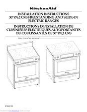 Kitchenaid KERS807SBL04 Installation Instructions Manual