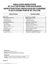 Kitchenaid MGT8885XW00 Installation Instructions Manual