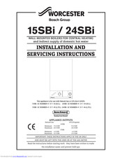 Bosch Worcester 24SBi Installation And Servicing Instructions