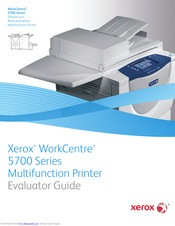 Xerox WorkCentre 5740A Evaluator Manual
