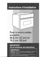 KitchenAid KBMC147HBT05 Installation Instructions