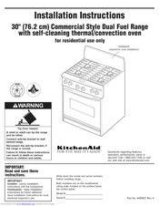 KitchenAid KDRP407HSS4 Installation Instructions Manual