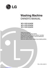 LG WD-15336ADK Owner's Manual