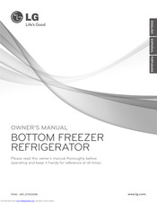 LG BOTTOM FREEZER REFRIGERATOR Owner's Manual