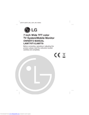 LG LAM770 Owner's Manual