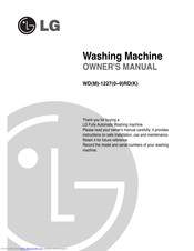 LG WDM-12270RD Owner's Manual