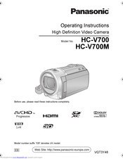 PANASONIC HC-V700M Operating Instructions Manual