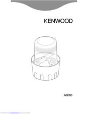Kenwood A938 User Manual