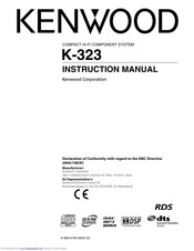 Kenwood K-323 Instruction Manual