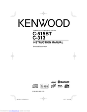 Kenwood C-515BT Instruction Manual