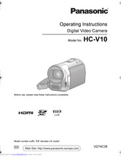 PANASONIC HC-V10 Operating Instructions Manual