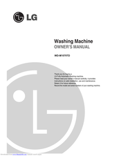 LG WD-M1070TD Owner's Manual