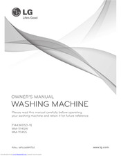 LG WM-1114SW Owner's Manual