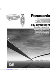 PANASONIC CN-DV1800EN Operating Instructions Manual