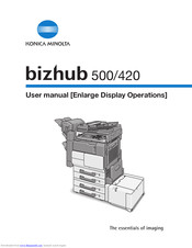 Konica Minolta Bizhub 500 Manuals Manualslib