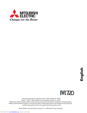 Mitsubishi Electric M720 User Manual