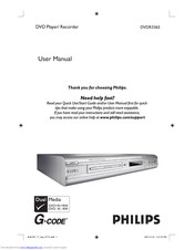 PHILIPS DVDR3365 User Manual