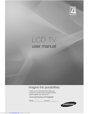 Samsung LA32C450 User Manual