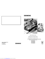 SIEMENS ER926SB90A User Instructions