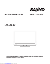 SANYO LED-32XR10FH Instruction Manual