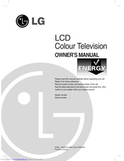 LG RZ-32LZ50 Owner's Manual