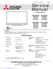 Mitsubishi Electric WD-73638 Service Manual