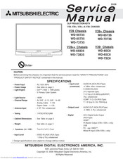 MITSUBISHI ELECTRIC WD-65835 Service Manual