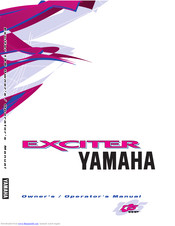 YAMAHA EXCITER Owner's/Operator's Manual