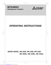 Mitsubishi Electric MR-385BL Series Operating Instructions Manual