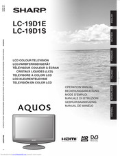 SHARP AquosLC-19D1E Operation Manual