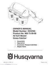 Husqvarna H342SG Owner's Manual