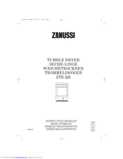 Zanussi ZTE 225 Instruction Booklet
