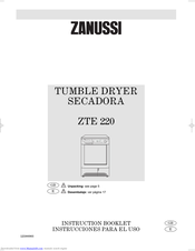 Zanussi ZTE 220 Instruction Booklet
