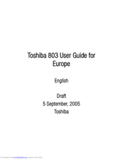 TOSHIBA 803 User Manual